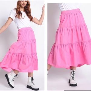 Hi Low Midi Skirt